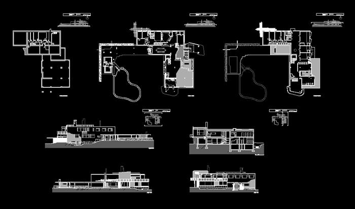 某新艺术风格玛利亚别墅建筑设计以及室内设计(含效果图、su模型),包括有CAD平立剖面、SU模型、实景照片等等,供学习参考。玛丽亚别墅是典型的现代理性主义与民族浪漫主义的结合。在满足功能要求的前提下,采用了流动空间的手法,空间自由灵活,空间的连续性富有舒适感。