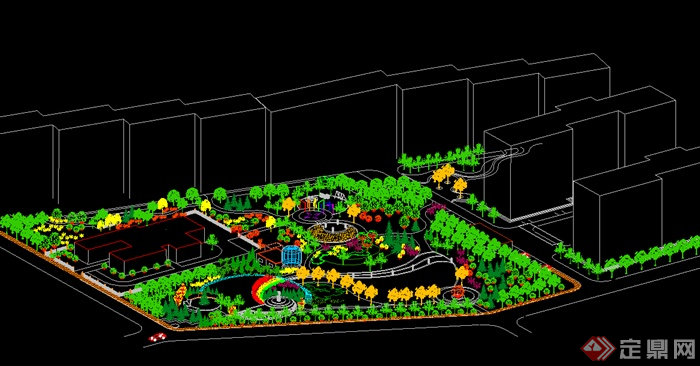 居住小区功能规划设计图展示