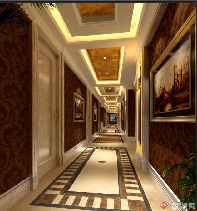 某现代茶楼室内装饰设计 含效果图