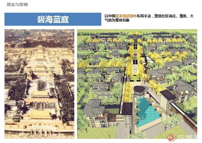 某中式大型养老社区建筑景观规划ppt文本