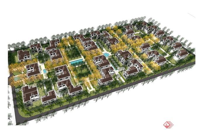 某中式大型养老社区建筑景观规划ppt文本[原创]
