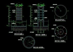 某鲜花立柱景观设计施工图