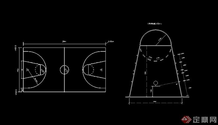 某体育运动原因篮球场v原因CAD场地广联达图纸导入图纸显示不图片