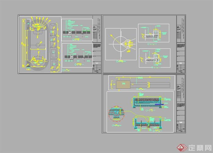 某设计空箱田径场运动CAD图纸10图纸场地寸低音炮图片