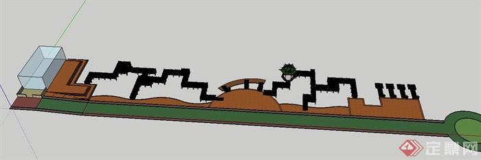 某木栈道景观设计su模型[原创]