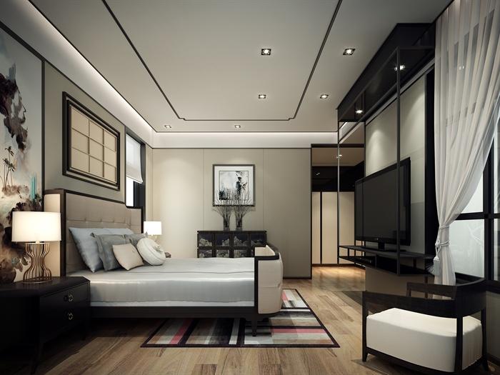 某新中式别墅全套装修施工图带效果图实景图 2