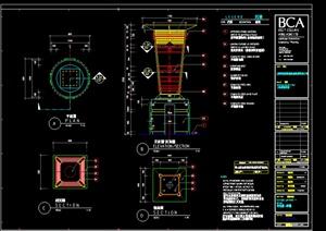 某园林景观灯具施工图设计cad图纸