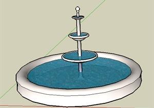 园林景观之喷泉水景设计SU(草图大师)模型27-水景喷泉园林景观细图片