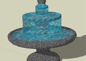 园林景观之喷泉水景设计SU(草图大师)模型29-水景喷泉园林景观细图片