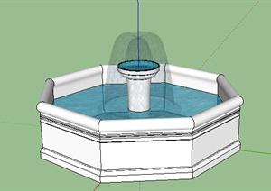 园林景观之喷泉水景设计SU(草图大师)模型33-水景喷泉园林景观细图片