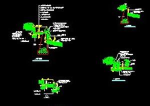 6种堤岸断面施工设计图CAD格式