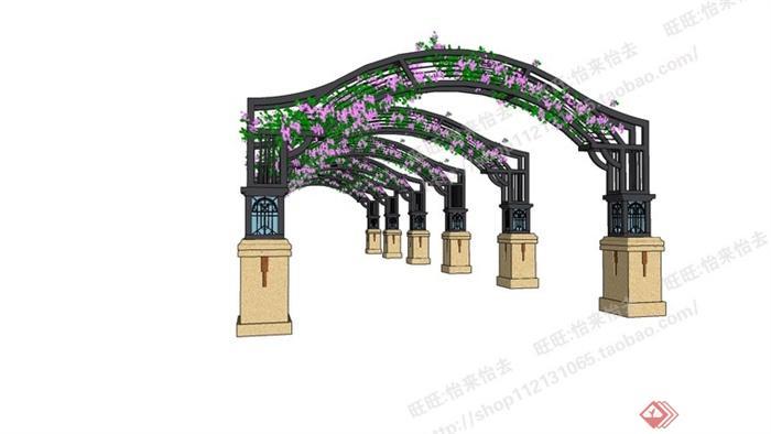 拱门花架隔断装修效果图