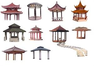 10款园林景观亭子设计素材psd格式