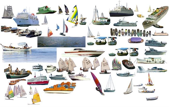 多款帆船,轮船,快艇psd素材[原创]