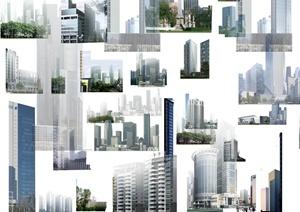 多款写字楼、住宅建筑psd素材