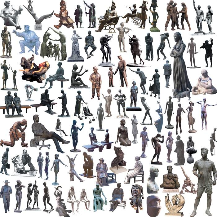 多款人物雕塑素材效果图psd格式[原创]
