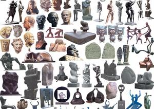 多种人物雕塑素材PSD格式