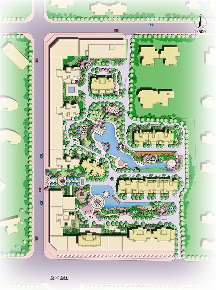 某住宅滨水景观设计平面图psd格式[原创]