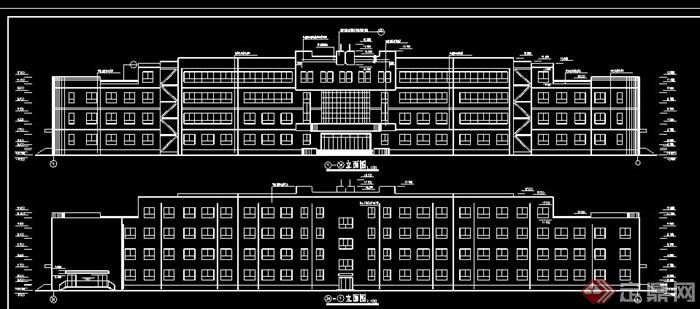 某中学教学楼建筑设计建施图和结施图[原创]建筑设计技术标v中学图片