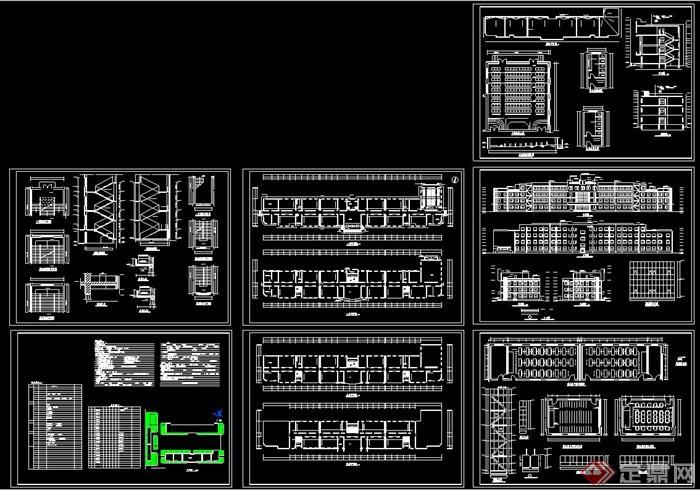 某机械教学楼建筑设计建施图和结施图[原创]cad设计培训v机械中学图片
