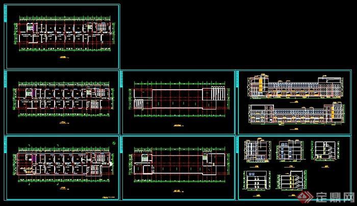 小学教学楼一层平面图_平面设计图