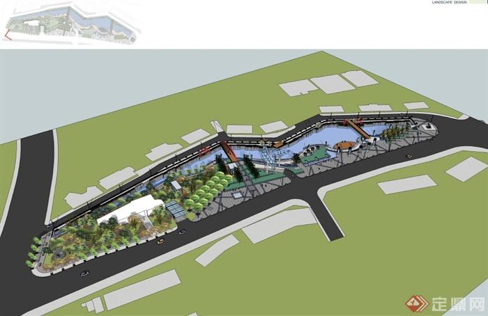 某地塊濱水公園景觀設計pdf方案[原創]