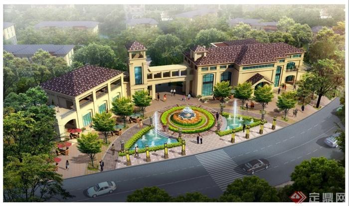 某地国际化主题旅游小镇景观规划设计jpg方案,方案设计比较细致,包括项目背景、总体设计、分区设计、专题设计、植物设计、开盘展示区等等,设计内容比较丰富,集商业街区、会所、接待中心、住宅为一体,用风情化的异域建筑风格提升小镇主题特色,具有一定参考价值。