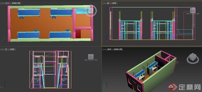 某学校四人间宿舍室内设计3dmax模型[原创]