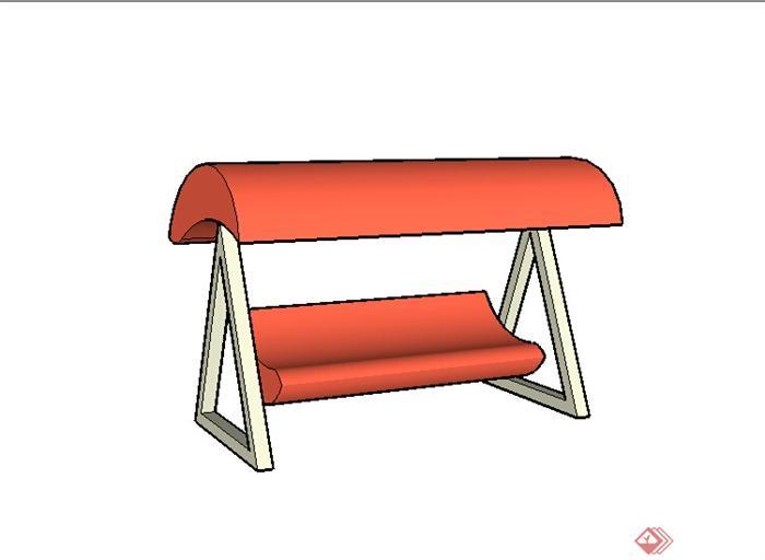 某园林景观室外摇椅su模型素材