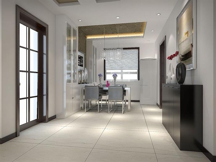 格客厅餐厅室内装修3DMAX模型