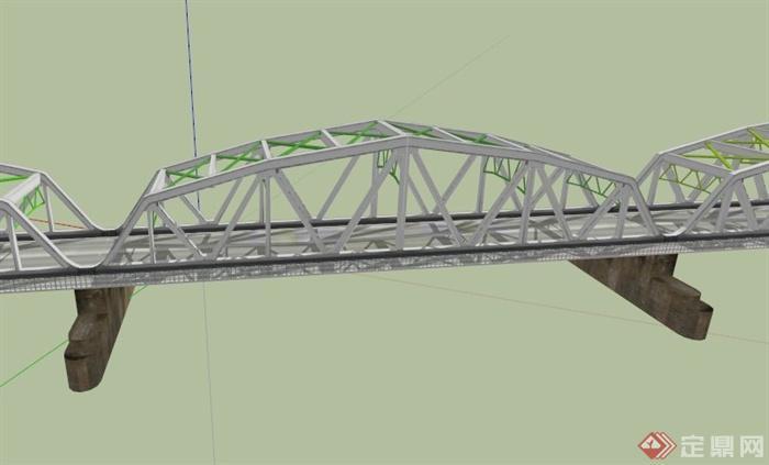某现代高架桥设计su模型