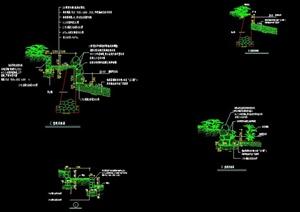 七款堤岸断面施工图CAD格式