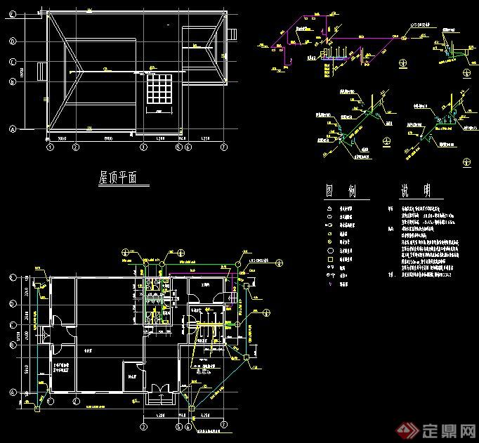 室内卫生洁具按给排水施工图CAD格式