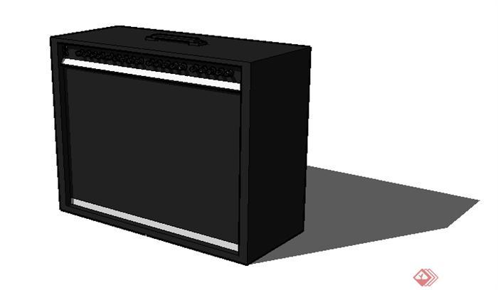 一个电吉他音箱放大器su模型图片
