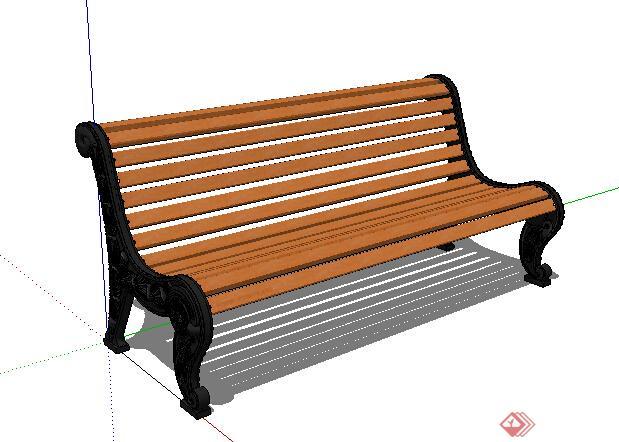 某园林户外长座椅设计su模型,该模型设计精美细致,细节处理较好,材质处理得当,风格是欧式风格,是比较好的座椅设计方案。