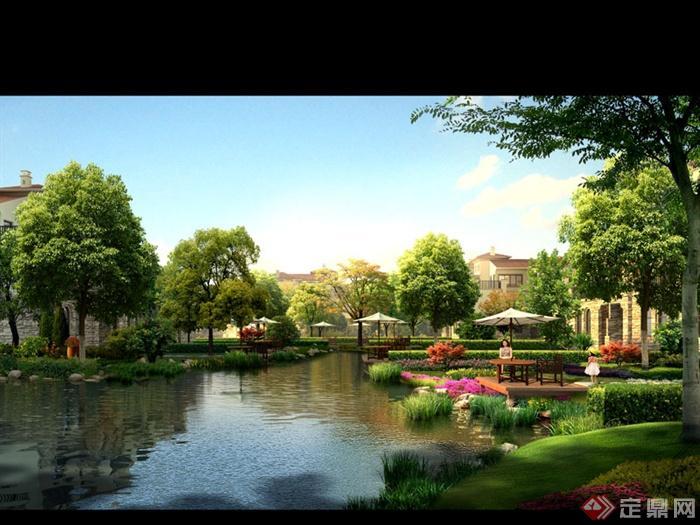 某别墅区滨水景观设计PSD效果图
