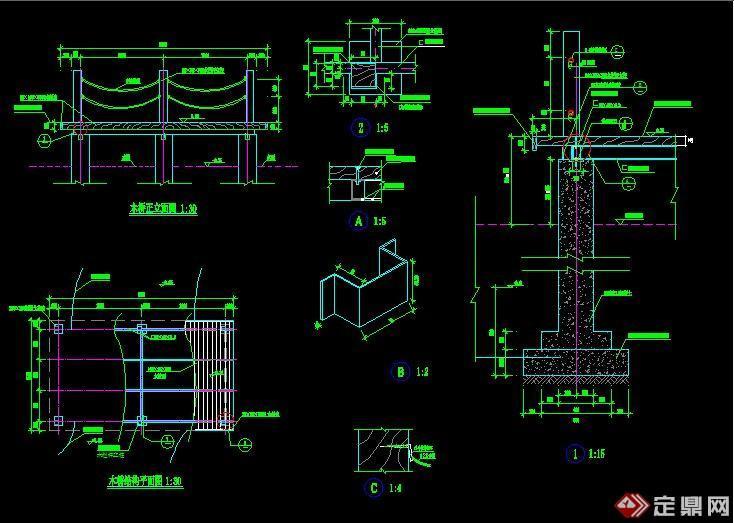 木桥施工图全图展示