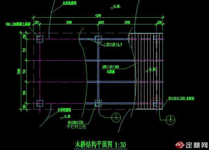 木桥施工平面图