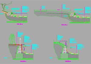 云南某中式小区水景驳岸施工图