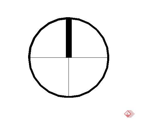 圓形指北針景觀標志標記SketchUp(SU)3D模型