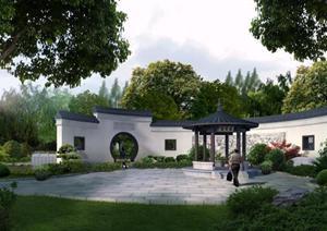 某公园丽黎景园园林景观设计效果图psd格式