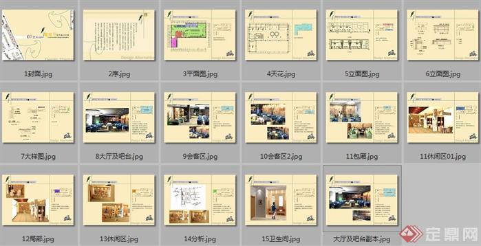 室内设计作业之咖啡厅装修设计方案目录