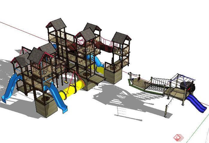 组合儿童游乐设施SketchUp(SU)3D模型