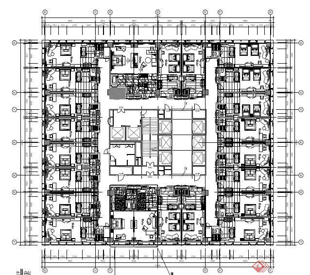 旅馆建筑设计平面图_重庆艾美酒店建筑设计平面布置图[原创]