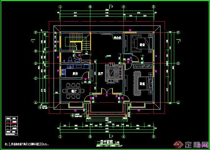 三层别墅建筑设计施工图1