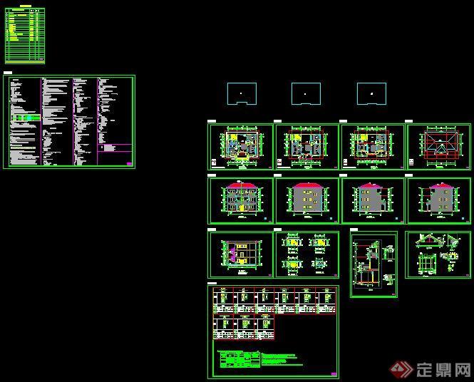 三层别墅建筑设计施工图5