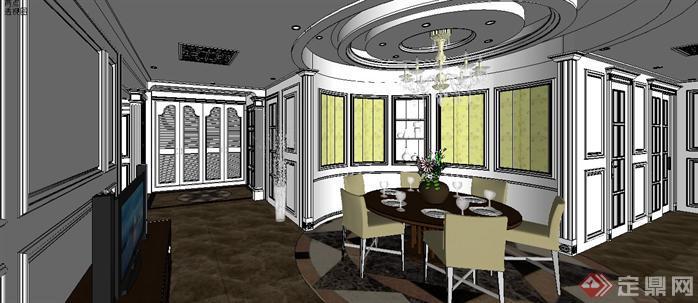 某样板房室内设计sketchup模型3