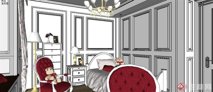 某样板房室内设计sketchup模型7