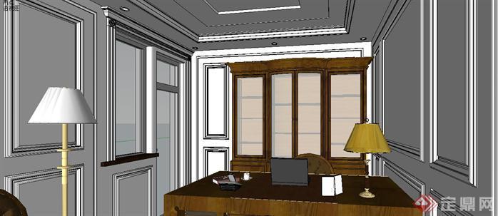 某样板房室内设计sketchup模型9