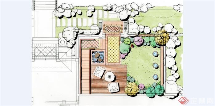 华北地区某项目庭院SU模型含效果图1